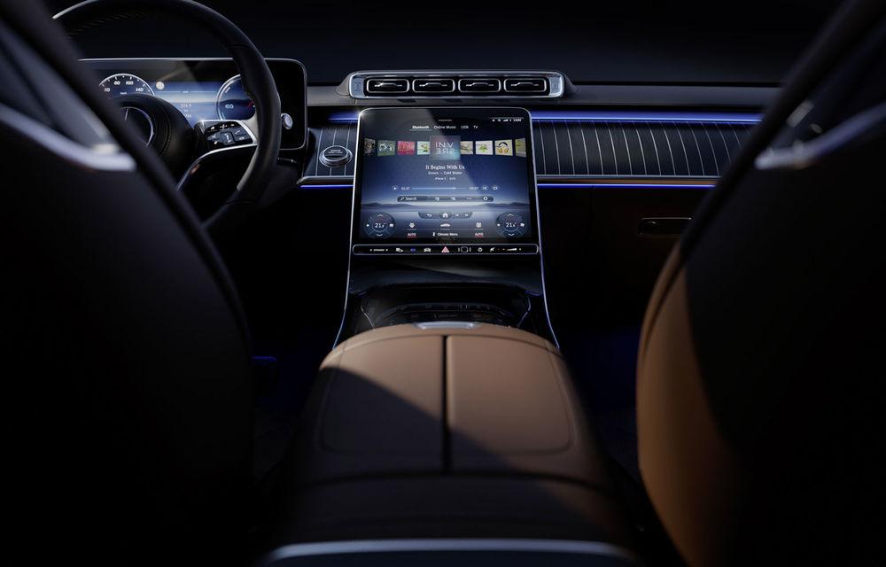 Detalii despre interiorul noii generații Mercedes-Benz Clasa S: sistemul de iluminare va oferi avertizări la activarea unor sisteme de asistență - Poza 3