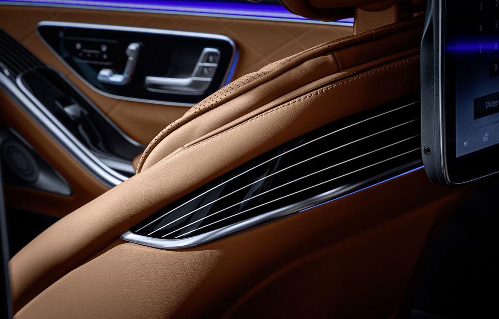 Detalii despre interiorul noii generații Mercedes-Benz Clasa S: sistemul de iluminare va oferi avertizări la activarea unor sisteme de asistență - Poza 10