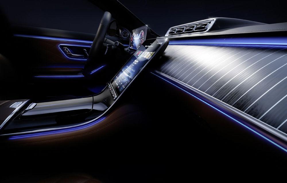 Detalii despre interiorul noii generații Mercedes-Benz Clasa S: sistemul de iluminare va oferi avertizări la activarea unor sisteme de asistență - Poza 2