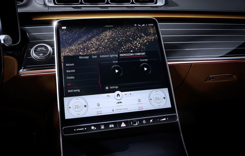 Detalii despre interiorul noii generații Mercedes-Benz Clasa S: sistemul de iluminare va oferi avertizări la activarea unor sisteme de asistență - Poza 6