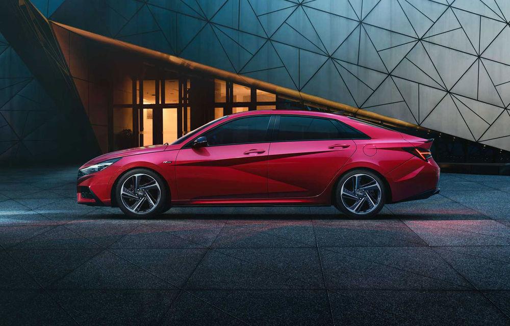 Informații noi despre Hyundai Elantra N-Line: sedanul are un motor turbo de 1.6 litri și 203 cai putere - Poza 3