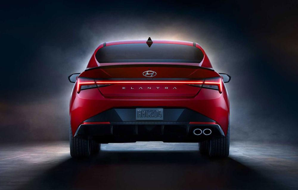 Informații noi despre Hyundai Elantra N-Line: sedanul are un motor turbo de 1.6 litri și 203 cai putere - Poza 5