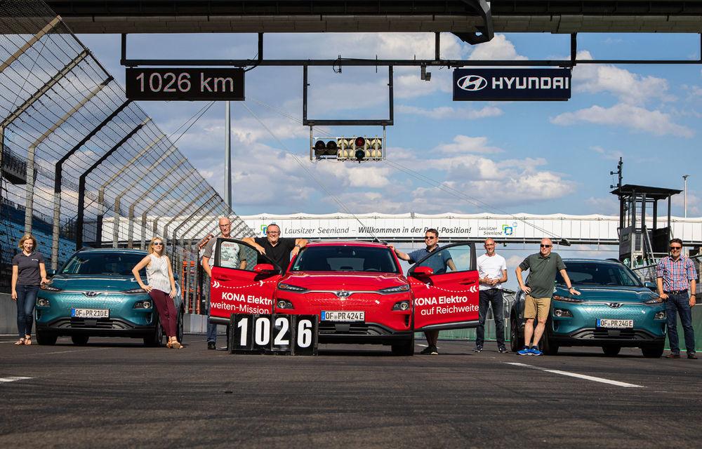 Record de autonomie pentru Hyundai Kona Electric: SUV-ul a parcurs 1.026 de kilometri pe un circuit de teste în condiții speciale - Poza 13