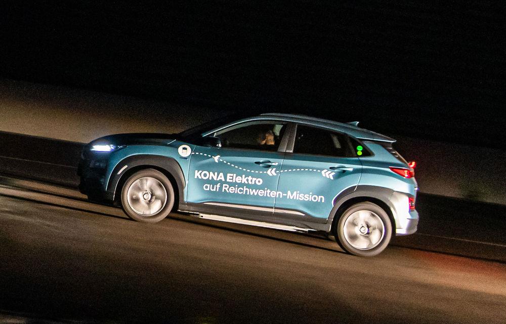 Record de autonomie pentru Hyundai Kona Electric: SUV-ul a parcurs 1.026 de kilometri pe un circuit de teste în condiții speciale - Poza 6