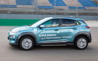 Record de autonomie pentru Hyundai Kona Electric: SUV-ul a parcurs 1.026 de kilometri pe un circuit de teste în condiții speciale