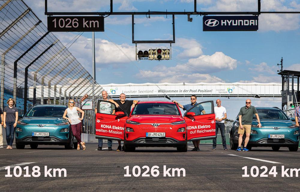 Record de autonomie pentru Hyundai Kona Electric: SUV-ul a parcurs 1.026 de kilometri pe un circuit de teste în condiții speciale - Poza 12
