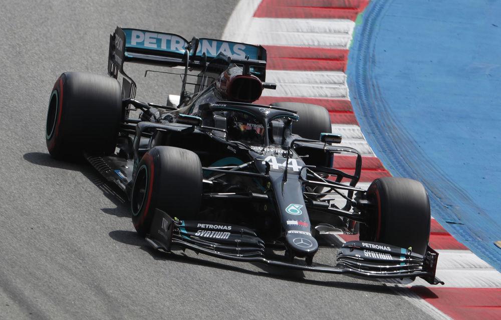 Hamilton, pole position la Barcelona în fața lui Bottas! Verstappen și Perez, în a doua linie a grilei de start - Poza 1