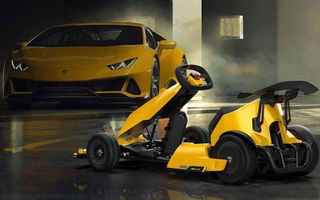 Xiaomi Ninebot GoKart Pro primește o ediție specială în colaborare cu Lamborghini: kartul electric imită sunetul motoarelor dezvoltate de italieni