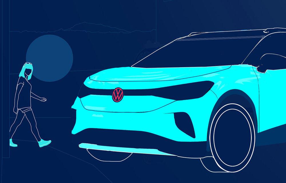 Teasere noi cu Volkswagen ID.4: SUV-ul electric cu autonomie de 500 de kilometri va fi prezentat peste câteva săptămâni - Poza 3