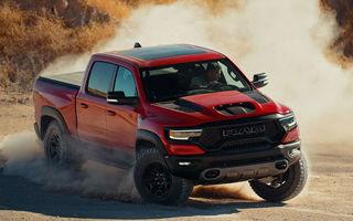 Noul pick-up Ram 1500 TRX va fi disponbil și în Europa: modelul are un motor V8 de 6.2 litri și 712 cai putere
