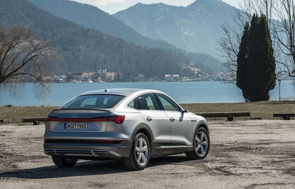 Facem cunoștință cu mașinile din #ElectricRomânia 2020: Audi e-tron Sportback, un SUV-coupé electric performant cu tehnologii de ultima generație - Poza 5