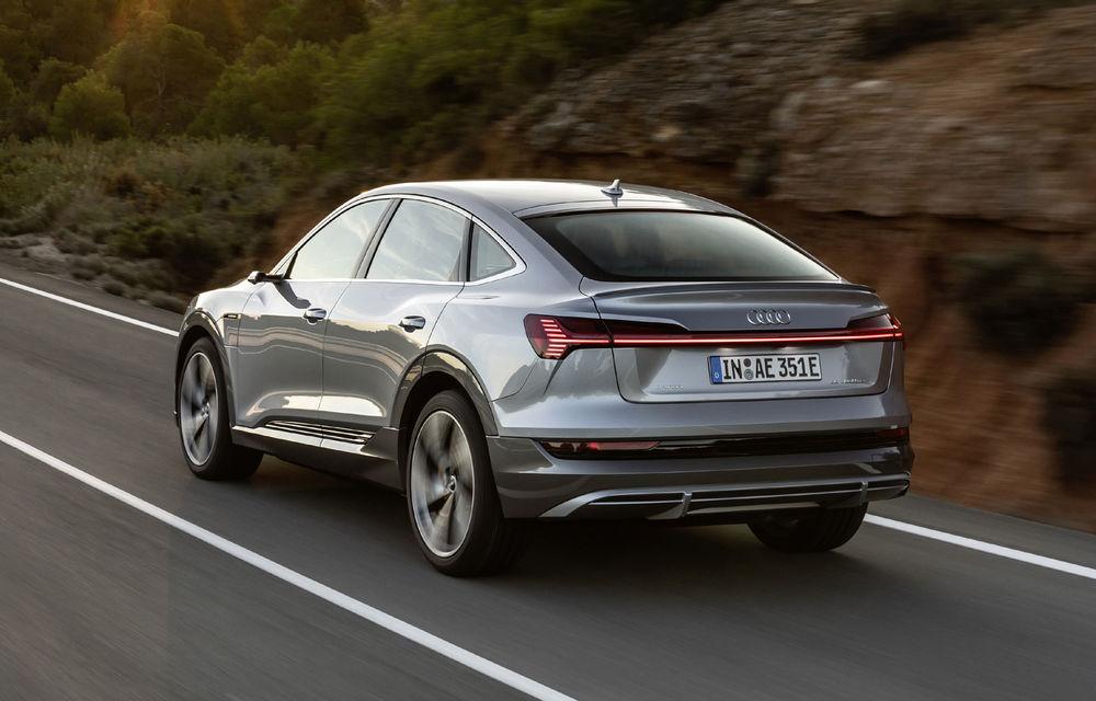 Facem cunoștință cu mașinile din #ElectricRomânia 2020: Audi e-tron Sportback, un SUV-coupé electric performant cu tehnologii de ultima generație - Poza 14
