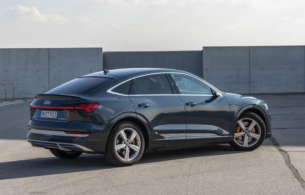 Facem cunoștință cu mașinile din #ElectricRomânia 2020: Audi e-tron Sportback, un SUV-coupé electric performant cu tehnologii de ultima generație - Poza 13