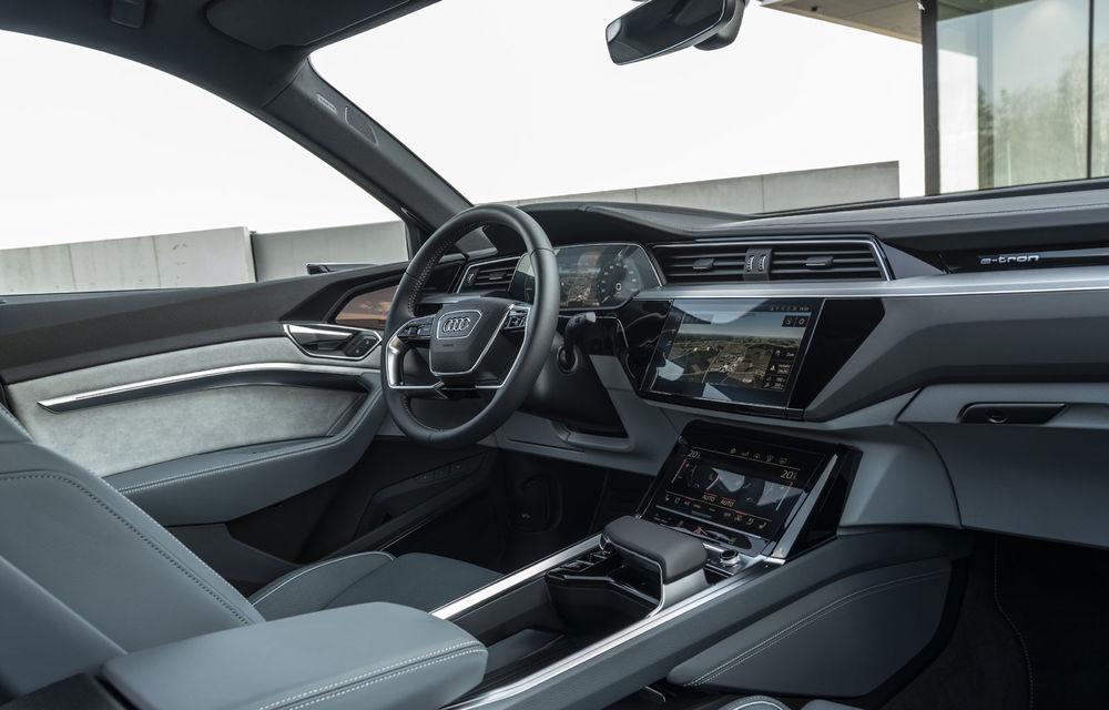 Facem cunoștință cu mașinile din #ElectricRomânia 2020: Audi e-tron Sportback, un SUV-coupé electric performant cu tehnologii de ultima generație - Poza 36