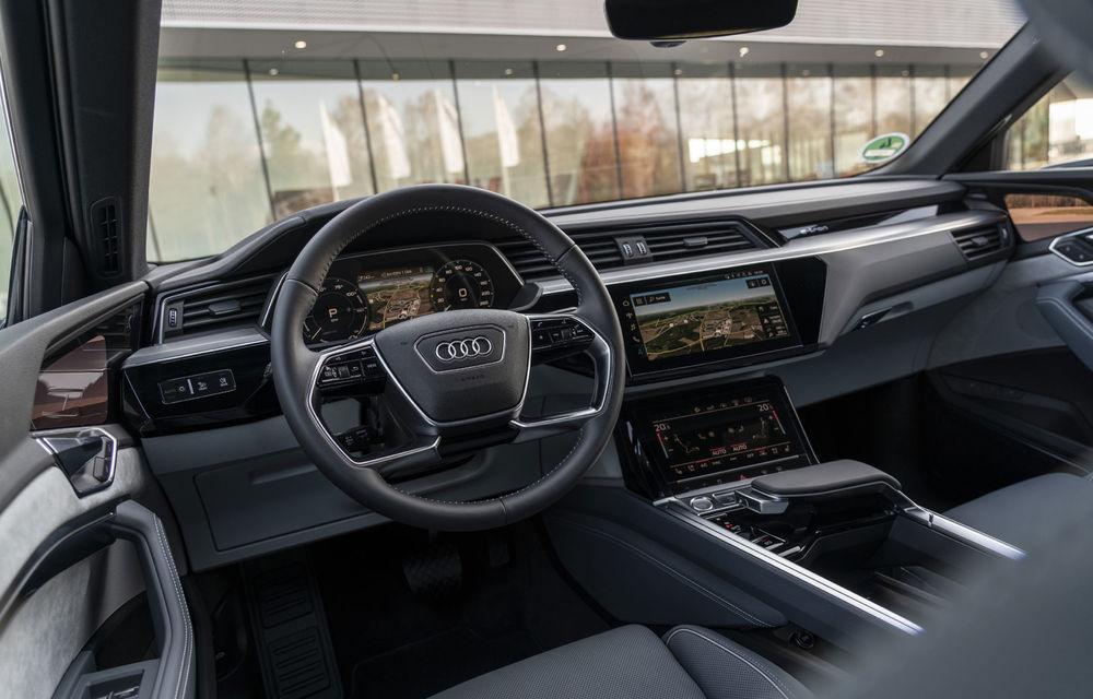 Facem cunoștință cu mașinile din #ElectricRomânia 2020: Audi e-tron Sportback, un SUV-coupé electric performant cu tehnologii de ultima generație - Poza 37