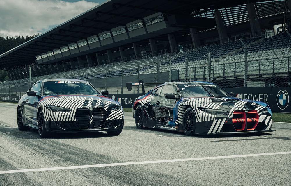 Imagini camuflate cu prototipurile viitoarelor M4 Coupe și M4 GT3: modelul de stradă va fi prezentat în luna septembrie, în timp ce versiunea de competiții va debuta în 2021 - Poza 1