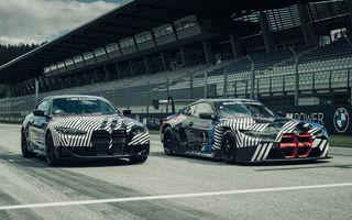 Imagini camuflate cu prototipurile viitoarelor M4 Coupe și M4 GT3: modelul de stradă va fi prezentat în luna septembrie, în timp ce versiunea de competiții va debuta în 2021