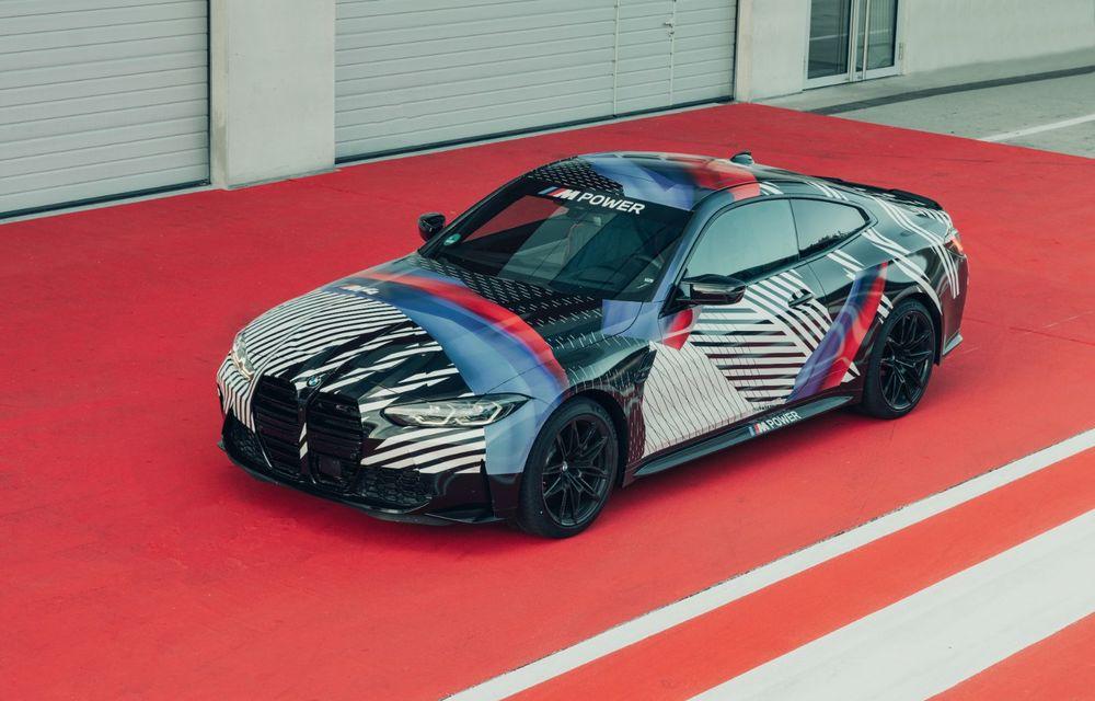 Imagini camuflate cu prototipurile viitoarelor M4 Coupe și M4 GT3: modelul de stradă va fi prezentat în luna septembrie, în timp ce versiunea de competiții va debuta în 2021 - Poza 3