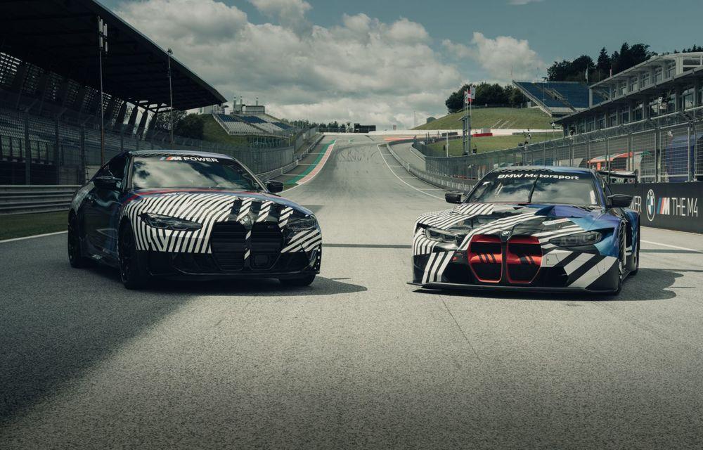 Imagini camuflate cu prototipurile viitoarelor M4 Coupe și M4 GT3: modelul de stradă va fi prezentat în luna septembrie, în timp ce versiunea de competiții va debuta în 2021 - Poza 2