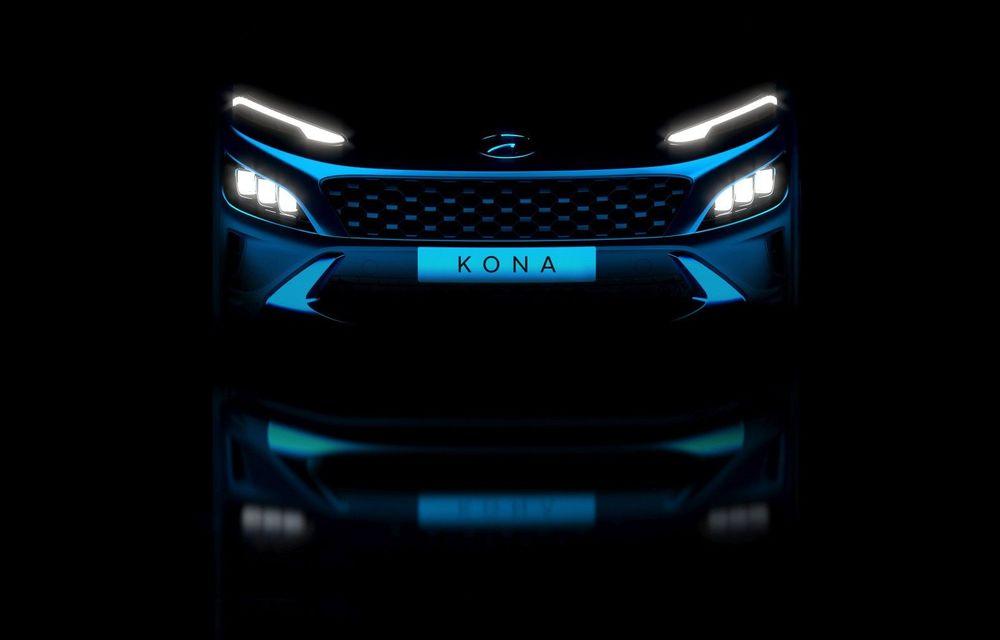 Teaser pentru Hyundai Kona facelift: constructorul pregătește și noua versiune Kona N Line - Poza 1