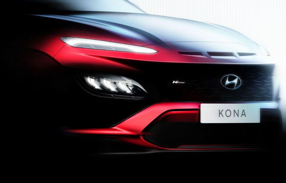 Teaser pentru Hyundai Kona facelift: constructorul pregătește și noua versiune Kona N Line - Poza 3