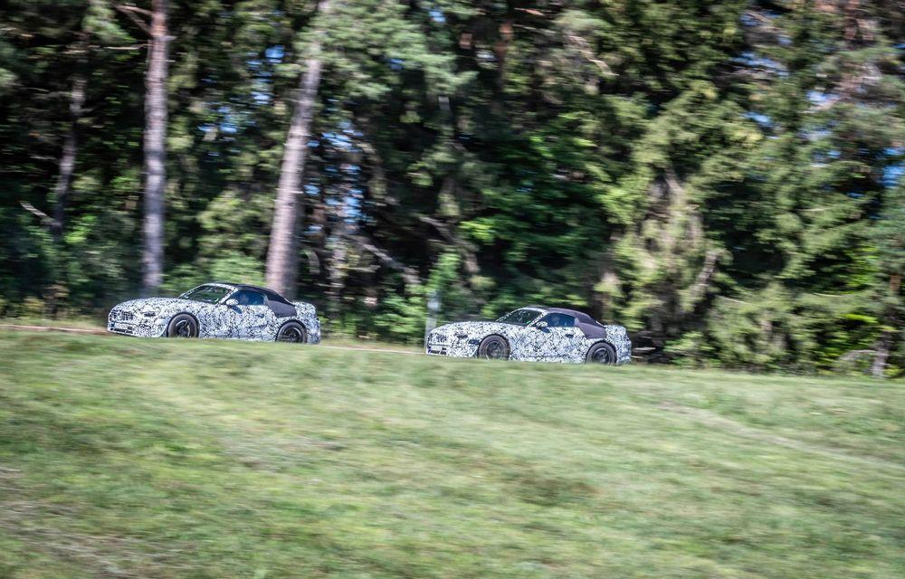 Primele imagini cu prototipurile viitorului Mercedes-Benz SL Roadster: modelul ar urma să debuteze în 2021 - Poza 6