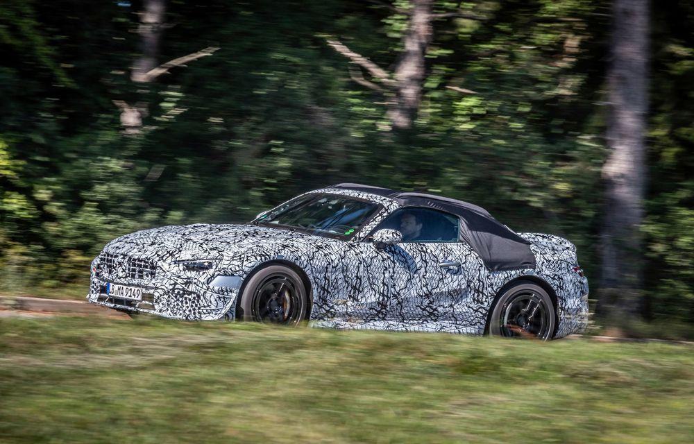 Primele imagini cu prototipurile viitorului Mercedes-Benz SL Roadster: modelul ar urma să debuteze în 2021 - Poza 3