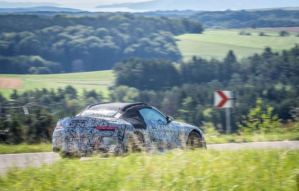 Primele imagini cu prototipurile viitorului Mercedes-Benz SL Roadster: modelul ar urma să debuteze în 2021 - Poza 5