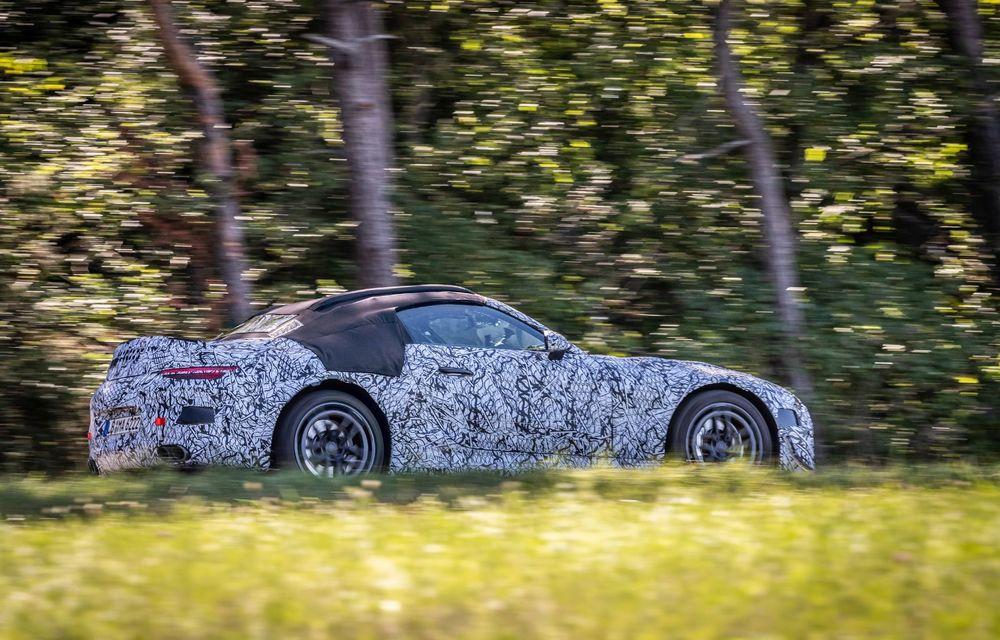 Primele imagini cu prototipurile viitorului Mercedes-Benz SL Roadster: modelul ar urma să debuteze în 2021 - Poza 4