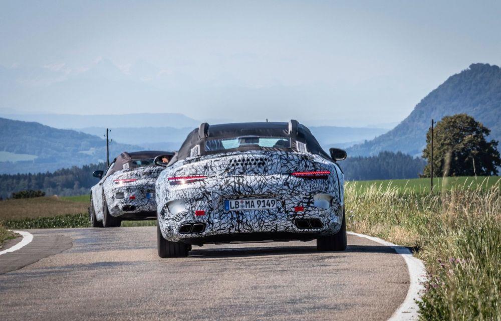 Primele imagini cu prototipurile viitorului Mercedes-Benz SL Roadster: modelul ar urma să debuteze în 2021 - Poza 8