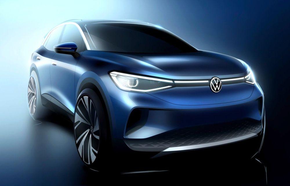 Primele schițe oficiale cu Volkswagen ID.4: viitorul SUV electric va avea un coeficient aerodinamic de 0.28 și autonomie de 500 de kilometri - Poza 1