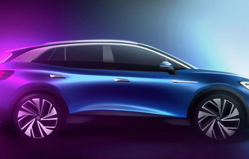 Primele schițe oficiale cu Volkswagen ID.4: viitorul SUV electric va avea un coeficient aerodinamic de 0.28 și autonomie de 500 de kilometri - Poza 2
