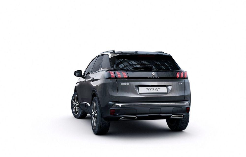 Peugeot a prezentat 3008 facelift: noutăți de design, sisteme de asistență îmbunătățite și versiuni plug-in hybrid cu până la 300 CP - Poza 4
