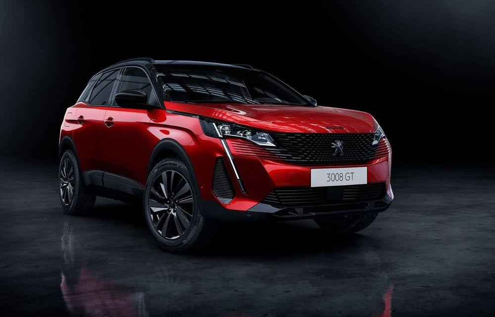 Peugeot a prezentat 3008 facelift: noutăți de design, sisteme de asistență îmbunătățite și versiuni plug-in hybrid cu până la 300 CP - Poza 3