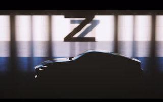 Noul model din gama Nissan Z va fi prezentat în 15 septembrie în versiune de pre-producție: Z Proto ar putea avea 400 de cai putere