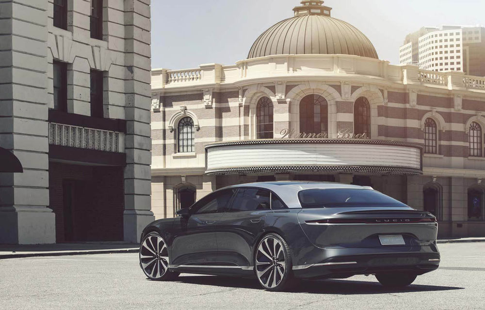 Lucid Air va fi cel mai rapid sedan din lume: 9.9 secunde pentru sfertul de milă. Modelul electric va avea două motoare de 1.080 de cai putere - Poza 2
