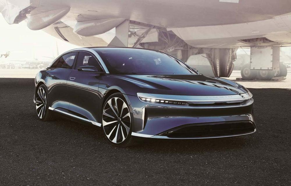 Lucid Air va fi cel mai rapid sedan din lume: 9.9 secunde pentru sfertul de milă. Modelul electric va avea două motoare de 1.080 de cai putere - Poza 1