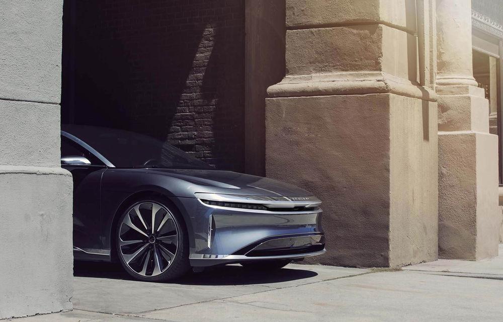 Lucid Air va fi cel mai rapid sedan din lume: 9.9 secunde pentru sfertul de milă. Modelul electric va avea două motoare de 1.080 de cai putere - Poza 3