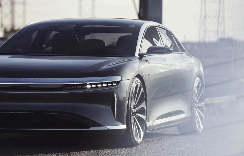 Lucid Air va fi cel mai rapid sedan din lume: 9.9 secunde pentru sfertul de milă. Modelul electric va avea două motoare de 1.080 de cai putere - Poza 7