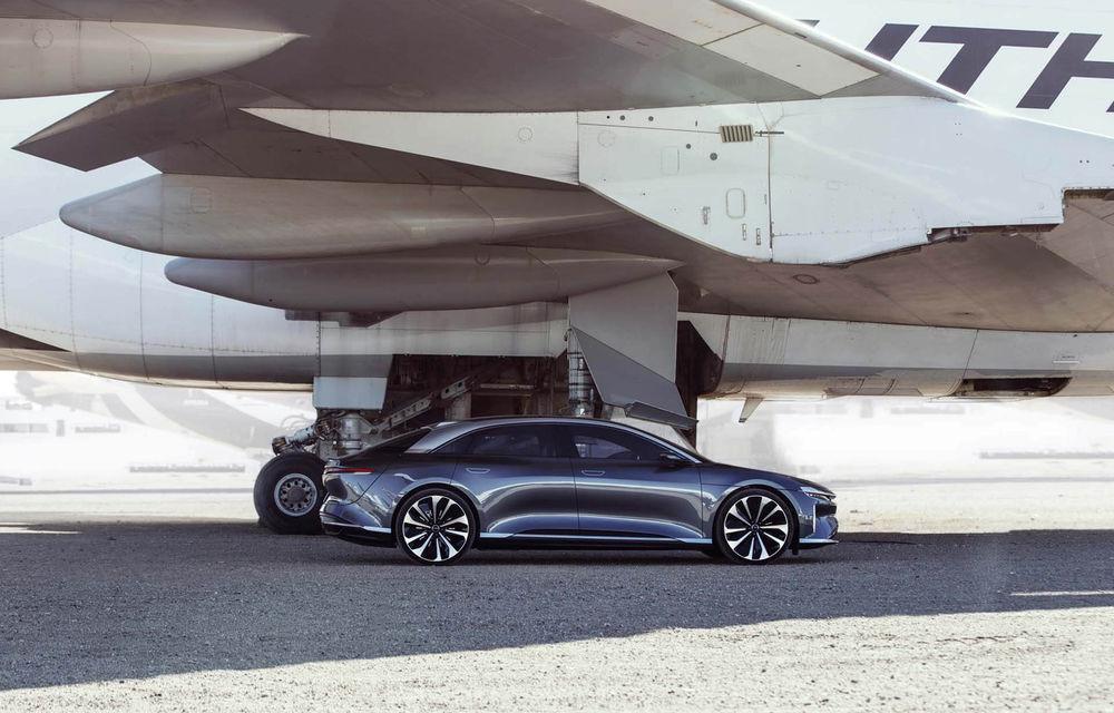 Lucid Air va fi cel mai rapid sedan din lume: 9.9 secunde pentru sfertul de milă. Modelul electric va avea două motoare de 1.080 de cai putere - Poza 5