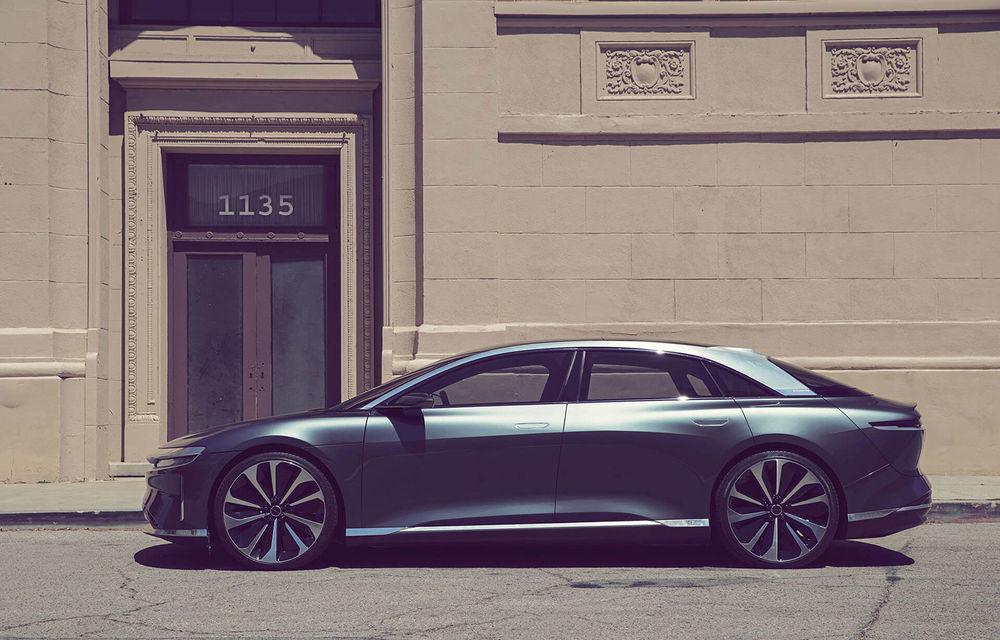 Lucid Air va fi cel mai rapid sedan din lume: 9.9 secunde pentru sfertul de milă. Modelul electric va avea două motoare de 1.080 de cai putere - Poza 9