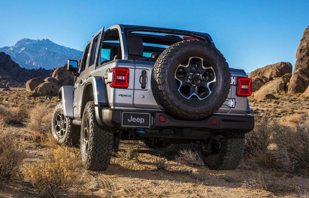 Jeep Wrangler primește versiune plug-in hybrid: 381 de cai putere și autonomie electrică de 40 de kilometri - Poza 3
