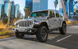 Jeep Wrangler primește versiune plug-in hybrid: 381 de cai putere și autonomie electrică de 40 de kilometri