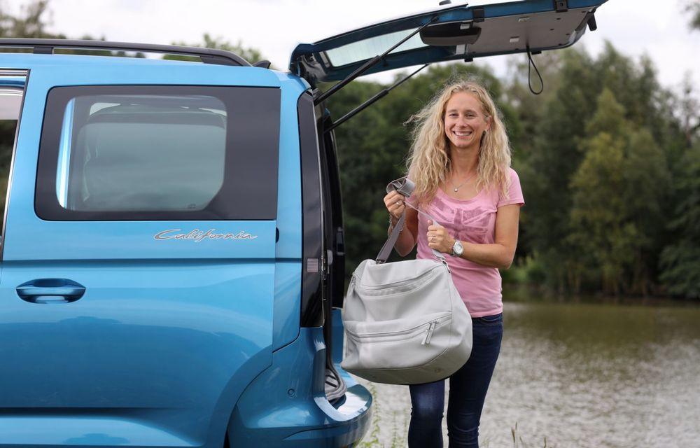 Volkswagen a prezentat noul Caddy California: camper van-ul are un pat cu arcuri cu o lungime de aproape 2 metri și o bucătărie de mici dimensiuni - Poza 12
