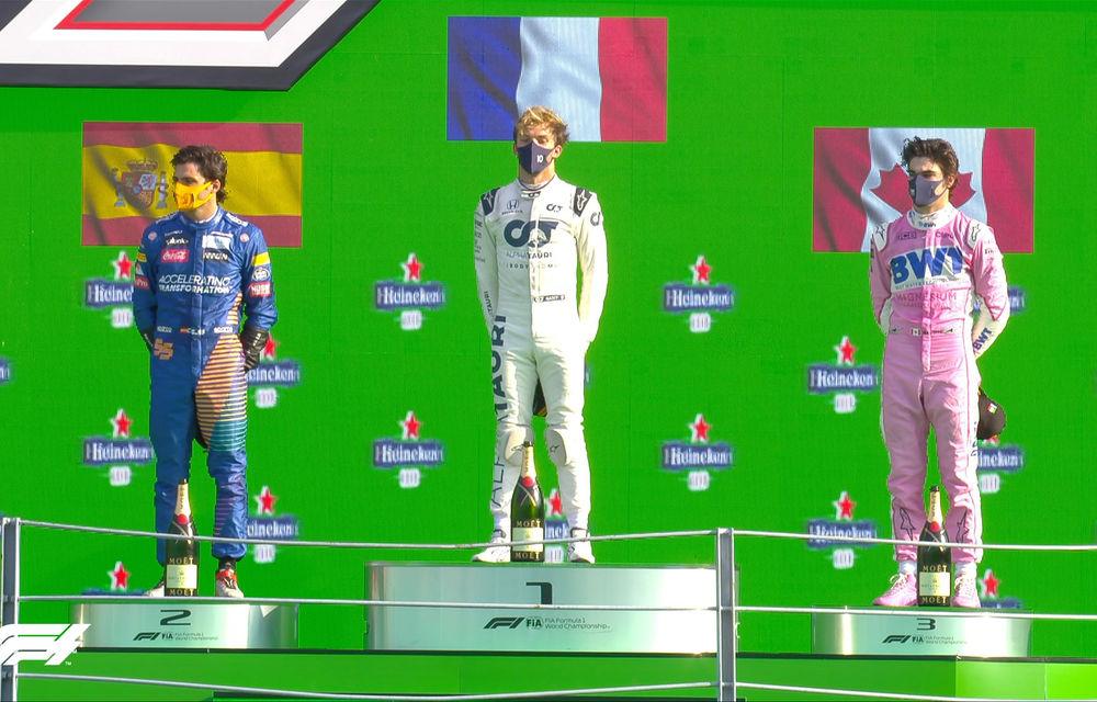 Surpriză la Monza: Gasly a câștigat cursa după o penalizare pentru Hamilton! Sainz și Stroll pe podium, dublu abandon pentru Ferrari - Poza 7