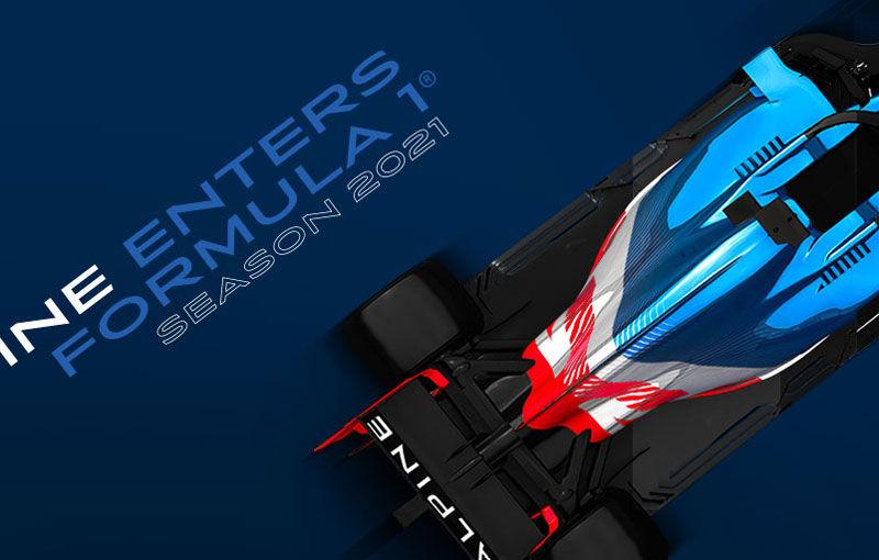 Renault va schimba numele echipei de Formula 1 în Alpine din sezonul 2021: noile culori vor fi albastru, alb și roșu - Poza 1
