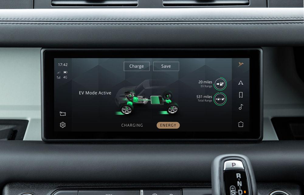 Land Rover Defender primește versiune plug-in hybrid: peste 400 de cai putere și autonomie de 43 de kilometri - Poza 25