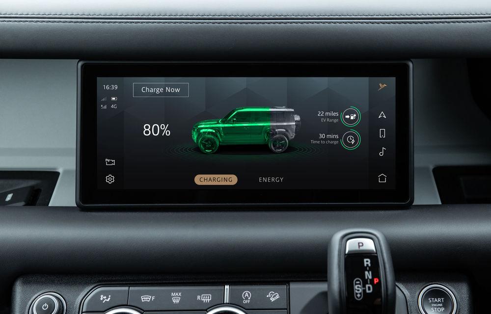 Land Rover Defender primește versiune plug-in hybrid: peste 400 de cai putere și autonomie de 43 de kilometri - Poza 24