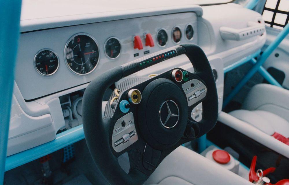 Mercedes a prezentat unicatul Project Geländewagen: modelul are la bază actualul Clasa G și dispune de modificări specifice modelelor de competiții - Poza 14