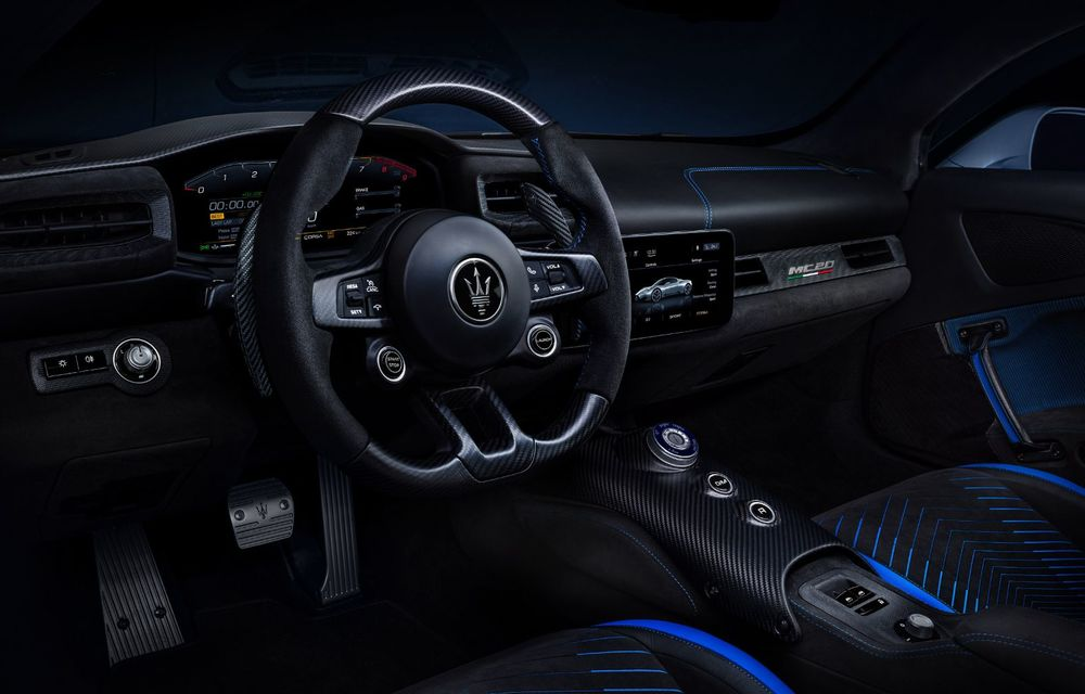 Maserati a prezentat noul MC20: supercar-ul cu motor V6 de 630 CP are o viteză de top mai mare de 325 km/h - Poza 4